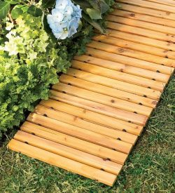 Plow & Hearth 52127 Weather-Resistant Straight Cedar Pathway, 8′
