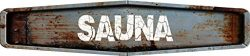 ANY AND ALL GRAPHICS Sauna Rustic Weathered Metal Look Diamond Shaped 4″x18″ Composi ...
