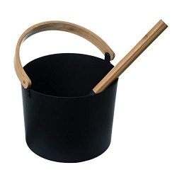 Sundlight Sauna Bucket with Wooden Handle Sauna Bucket Sauna Spa Accessory-7L