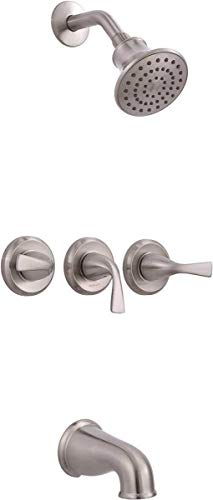 Premier 834CX-3004 Sanibel 3-Handle 1-Spray Tub and Shower Faucet in Brushed Nickel, Also Known  ...