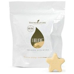 Young Living Essential Oils, I Believe Shower Steamers 27838, Pack of 4