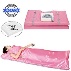 Lofan Portable Infrared Sauna Blanket, Digital Far-Infrared Heat Sauna Blanket 2 Zone, Personal  ...