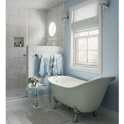 ARIEL 67″ Slipper Clawfoot Bathtub Heavy Duty Double Walled Acrylic Freestanding Tub and F ...