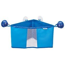 iDesign IDjr Neoprene Suction Cup Corner Bathroom Shower Caddy Basket, Baby Bath Toy Organizer,  ...