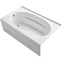 KOHLER K-1115-LA-0 Windward 6-Foot Bath with Integral Apron, White