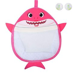 Genovega Bath Toys Organizer Storage Holder – Baby Shark Quick Dry Mesh Bag for Bathtub fo ...