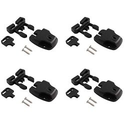 PSCCO 4 Set Spa Hot Tub Cover Latch Clip Lock Kit with Key,Replacement Broken Latchs Repair Acce ...