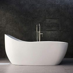 Woodbridge BTS1610/B0033 67″ Whirlpool Water Jetted and Air Bubble Freestanding Bathtub wi ...