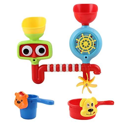 Vokodo Bath Toy Play Set with Spinning Wheel and Waterfall Features Fill and Flow Perfect for Ba ...