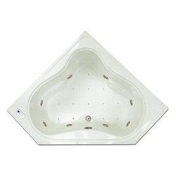 Signature Bath LPI303-C Combo Drop-in Air and Whirlpool Bathtub with Waterfall and LED Lighting, ...
