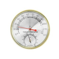Dyna-Living Wooden Sauna Hygrothermograph 2 in 1 Thermometer Hygrometer Double Dial Sauna Room A ...