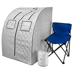 Durasage Oversized Portable Steam Sauna Spa for Weight Loss, Detox, Relaxation at Home, 60 Minut ...