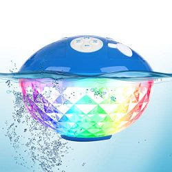 Bluetooth Speakers with Colorful Lights, Portable Speaker IPX7 Waterproof Floatable, Built-in Mi ...