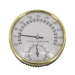ALEKO WJ07 Thermo-Hygrometer for Sauna Stainless Steel Casing