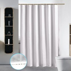 S·Lattye Extra Long Washable Shower Curtain Liner Bathroom Waterproof Fabric Cloth Polyester (Be ...