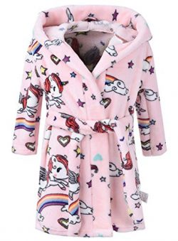 Ameyda Cosplay Costumes Girls' Fleece Robe, Warm Plush Flannel Bathrobe Hooded Pajamas Sle ...