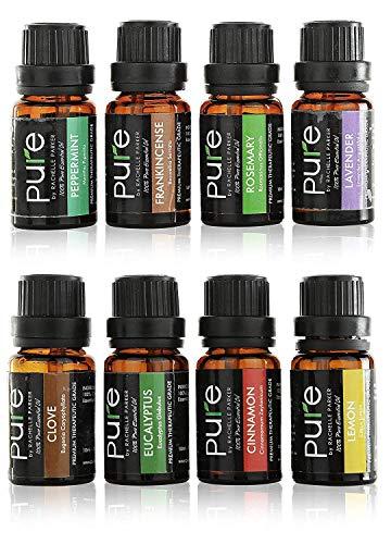 Essential Oils Set Aromatherapy Kit- 8 Top Essential Oil Starter Set includes Frankincense, Rose ...