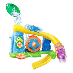 Happkid Bath Toy Baby Bathtub Sensory Water Toy with Spinning Gear, Non-Toxic Bath Time Toys for ...