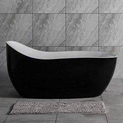 Woodbridge BTS1607/B0031 67″ Whirlpool Water Jetted and Air Bubble Freestanding Bathtub wi ...