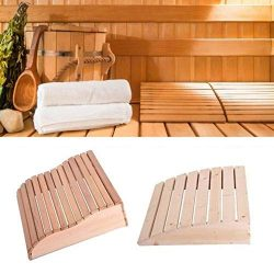 Curved Wooden Pillow Sauna Supplies 1 Pack, Headrest Sauna Equipment Shower Bench Cushion for Ba ...