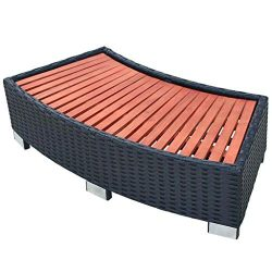 vidaXL Spa Step Poly Rattan 36.2″x17.7″x9.8″ Black