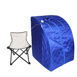 Smartmak Portable Far Infrared Sauna, EMF FIR One Person at Home Full Body SPA Tent with Heating ...