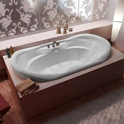 Atlantis Whirlpools 4170IAR Indulgence 41 x 70 Oval Air Jetted Bathtub