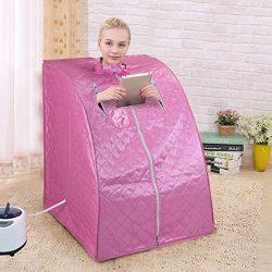 JAXSUNNY Portable Folding Home SPA Steam Sauna for Full Body Slimming Weight Loss Detox Heat The ...
