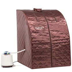 KUPPET Portable Folding Steam Sauna-2L One Person Home Sauna Spa for Full Body Slimming Loss Wei ...