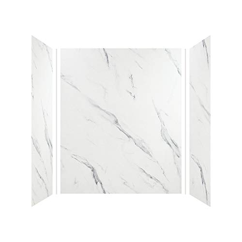 Transolid EWK603672-41 Expressions 3-Panel Shower Wall Kit, 36-in L x 60-in W x 72-in H, Bianca