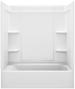 STERLING, a KOHLER Company 71370126-0 Ensemble 31.25-In X 60.25-In X 73-In Bathtub And Shower Ki ...