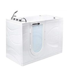 Ella's Bubbles OAZ3052H-L Zen Hydro Massage Walk-In Bathtub with Left Outward Swing Door,  ...