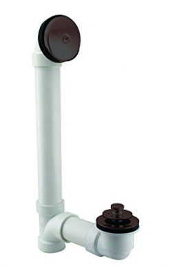 Westbrass Pull & Drain Sch. 40 PVC Bath Waste with One-Hole Top Elbow, Oil Rubbed Bronze, D4 ...