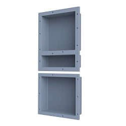SL4U Shower Niche 2-Pack, Recessed Shower Shelf Insert Storage Shower Cube Ready for Tile | Gray ...