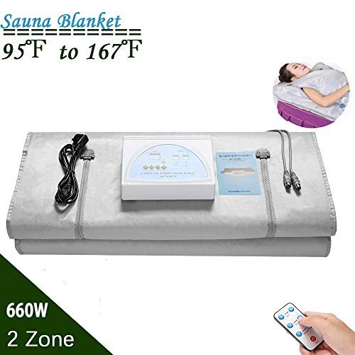 4YANG 70.8×31.4 Inches Far Infrared Sauna Blanket, Safety Switch Hands Free Design 80 Degre ...