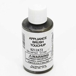 Whirlpool 8212473 Appliance Touch-Up Paint, 0.6-oz (Silver) Genuine Original Equipment Manufactu ...