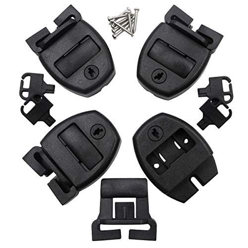 Huouo 4 Set Hot Tub Spa Cover Locks w/Key Pinch Center Release – Strap Buckle Broken Latch ...