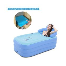 EoSaga Inflatable Bath Tub PVC Portable Tub SPA Environmental Portable Tubs for Adults Portable  ...