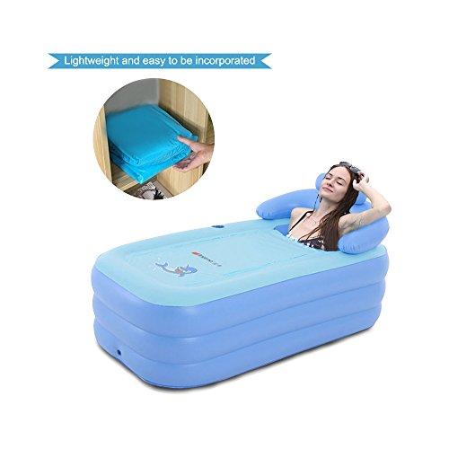 EoSaga Inflatable Bath Tub PVC Portable Tub SPA Environmental Portable Tubs for Adults Portable  ...