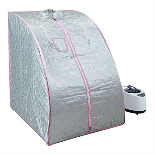 BWM.Co 2L Portable Steam Sauna Personal Therapeutic Sauna Home Spa for Relaxation Indoor w/Folda ...