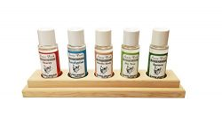 finlandia Sauna Fresh Aroma 5 pack with Cedar Holder, 1.8oz pure essence oil each