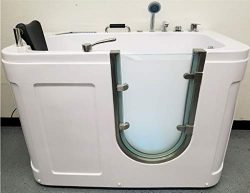 SDI Factory Direct 54″ Deluxe Hydrotherapy Water/Air Whirlpool Massage Walk in Bathtub Tub ...