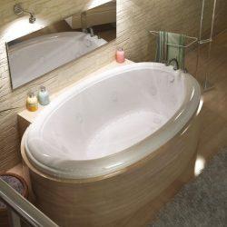 Atlantis Whirlpools 4270PDR Petite 42 x 70 Oval Air & Whirlpool Jetted Bathtub