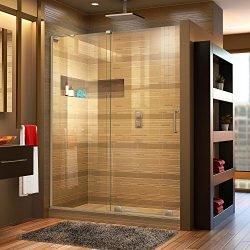 DreamLine SHDR-1948723L-04 Mirage-X Frameless Sliding Glass Shower Door, 44-48″ W, 72̸ ...