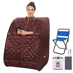 Portable Personal Sauna 2L Home Steam Sauna Tent Folding Indoor Sauna Spa Weight Loss Detox with ...