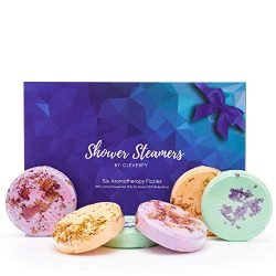 Cleverfy Shower Bombs Aromatherapy [6] Shower Steamers Gift Set With Essential Oils For Home Spa ...