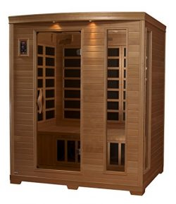 DYNAMIC SAUNAS AMZ-GDI-64-44-01 Luxury 3 Low EMF FAR Infrared Sauna