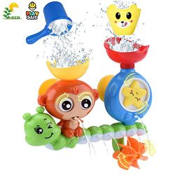 GOODLOGO Bath Toys for Toddlers Kids Babies 1 2 3 Year Old Boys Girls Bathtub Toy with 2 Toy Cup ...