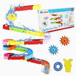 Homegician Bath Toys Slide Splash Water Ball Track Stick to Wall Bathtub for Toddlers DIY Free C ...