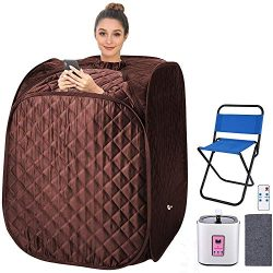 2L Home Steam Sauna Portable Personal Sauna Tent Folding Indoor Sauna Spa Weight Loss Detox with ...